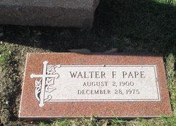 "Walter Francis ""Walt"" Pape"