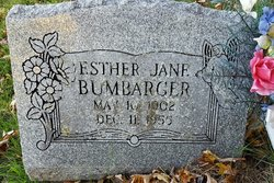 Esther Jane <I>Summers</I> Bumbarger