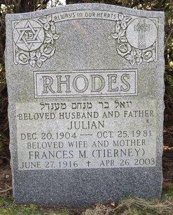 Frances Maria <I>Tierney</I> Rhodes