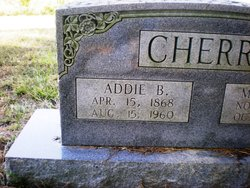 "Drucella Adeline ""Addie"" <I>Bunch</I> Cherry"