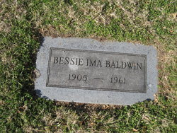 Bessie Ima <I>Brantner</I> Baldwin