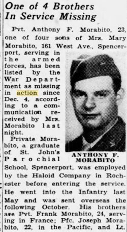 "Pvt Anthony F ""Tony"" Morabito"