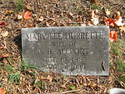 Mary Lee <I>Durrette</I> Allport