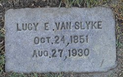 """Lucille Emeline """"Lucy"""" <I>Bottorff</I> Van Slyke"""