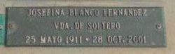 """Josefina """"Fina"""" <I>Blanco Fernández Vda. de</I> Soltero"""