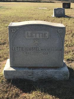 Lettie <I>Kimbrel</I> Beam