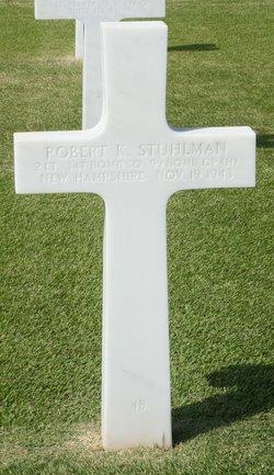 2Lt Robert K Stuhlman, III