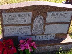 Yvonne Jeanette <I>Schmidt</I> Barloco