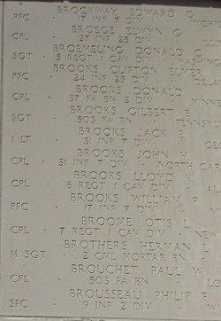 PFC Clifton Elmer Brooks