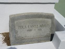 Zola <I>Lantz</I> Adams