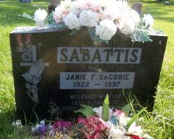 Janie F <I>Sacobie</I> Sabattis