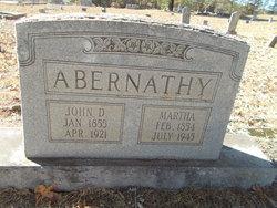 Martha <I>Leverett</I> Abernathy