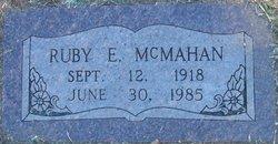 Ruby E McMahan
