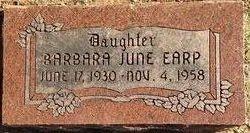 Barbara June Earp