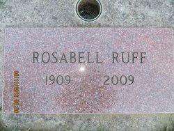 Rosabell <I>Parker</I> Ruff