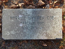 Harriet <I>Whitney</I> Coe