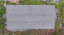 Eliza Margaret Mahala <I>King</I> Sherman
