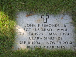 John F Simonds, Jr