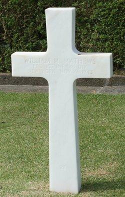 PFC William M Mathews