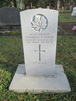 Sgt Charles Edward Leslie