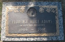 Florence Alice <I>Yeager</I> Adams