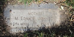 Matilda Edna Elizabeth <I>Burnell</I> Johnson
