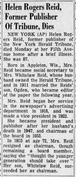 Helen Miles <I>Rogers</I> Reid