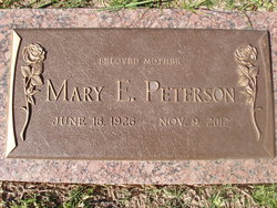Mary Elsie <I>Atkins</I> Peterson