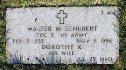 Dorothy K Schubert