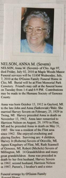 Anna M. <I>Walz</I> Severn