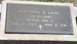 """Bernard F """"Bennie"""" Lang"""
