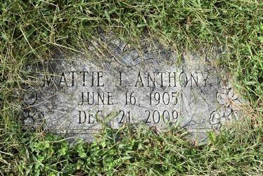 Mattie J Anthony