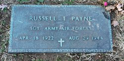 Sgt Russell Irving Payne