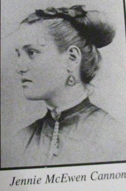 "Virginia Brown ""Jennie"" <I>McEwen</I> Cannon"