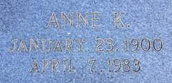 Anne Katherine <I>Rice</I> Church