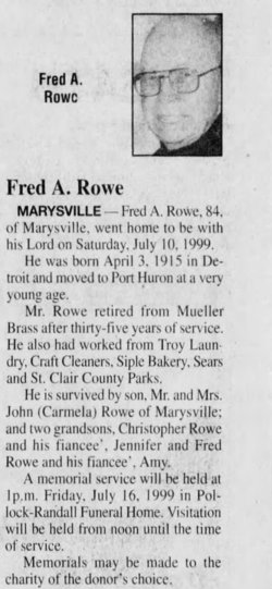 Fred A. Rowe