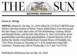 Grace Lucille <I>Huber</I> Sauter Orwig