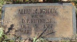 Allie Mae <I>Moody</I> Rhyne