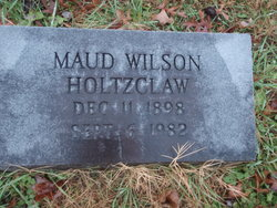 Maud <I>Wilson</I> Holtzclaw