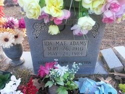 Ida Mae <I>Allen</I> Adams