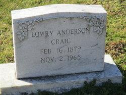 Lowry Anderson. Craig