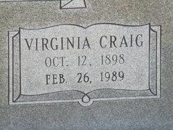 Virginia Inez <I>Craig</I> Hindman