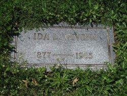 Ida Lydia <I>Spangler</I> Givens