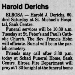 Harold Joseph Derichs