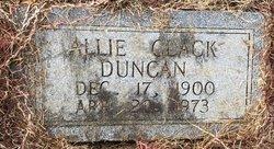 Allie <I>Clack</I> Duncan