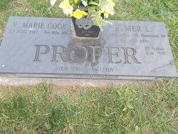 V Marie <I>Cook</I> Proper