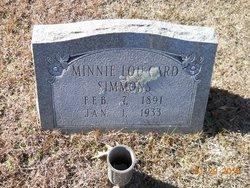 Minnie Lou <I>Card</I> Simmons