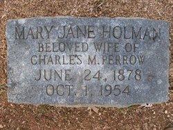Mary Jane <I>Holman</I> Perrow
