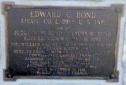 Lieut Edward G. Bond