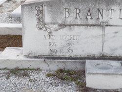 Alice <I>Leverette</I> Brantley